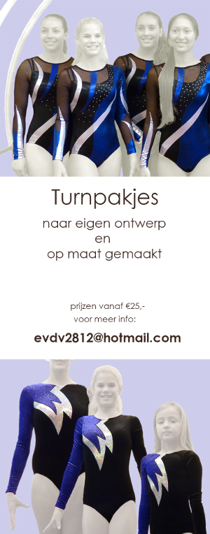 Advertentie Esther turnpakjes